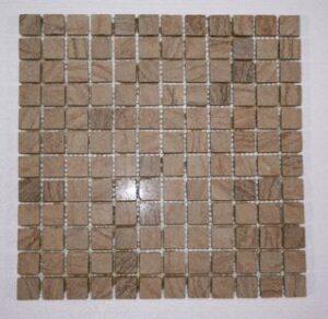 Timber Sandstone 3/4 Tumbled Square Mosaic Tiles