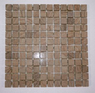 Timber Sandstone 3/4 Tumbled Square Mosaic Tiles