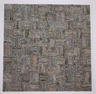 Stella Verde Quartzite Basket Weave Mosaic