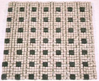 Crema Marfil/Nero Raised Diamond Micro Mosaic