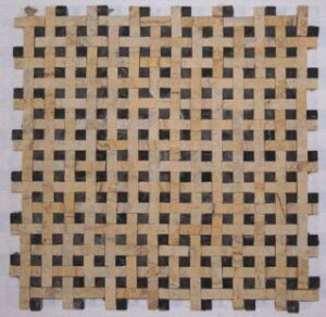 Egyptian Yellow/Nero Marquina Natural Split Basket Weave