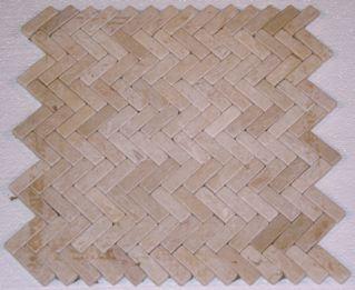 Egyptian Yellow Tumbled Herringbone Mosaic Pattern