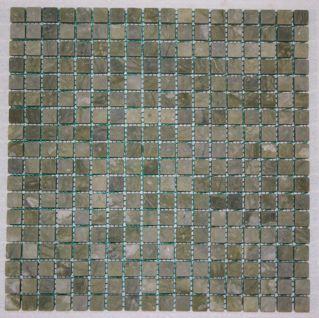 Veggie Green 5/8 Tumbled Classic Square Mosaic Tiles