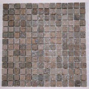 Stella Rosa Quartzite 3/4 Classic Square Mosaic Tiles
