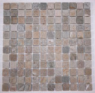 Serengeti Gold Quartzite 1 Square Mosaic Tiles