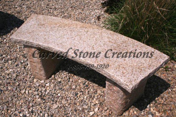 Rockface Curved Garden Bench, 4-FT Giallo Fantasia