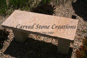 Rockface Straight Garden Bench, 1M Giallo Fantasia