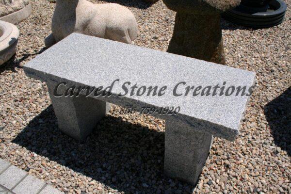 Rockface Straight Garden Bench, 1M Bianco Catalina