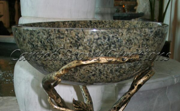 Galaxy Green Polished Unrimmed Vessel Sink
