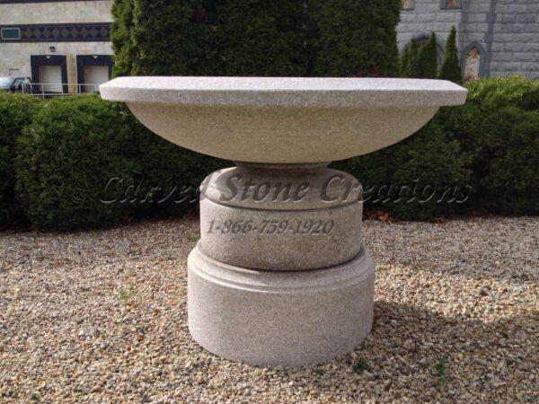 """Wide Urn Fountain, D60"""" x H44"""", Wild Rose Granite"""