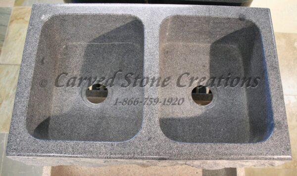 Charcoal Grey 2B RockFace Apron Sink