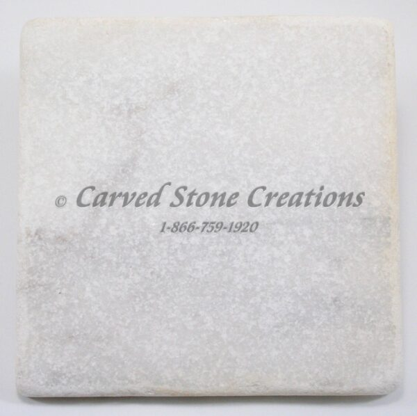 6×6 Crystal White Marble Tumbled Tile