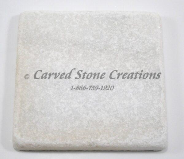 4×4 Crystal White Marble Tumbled Tile