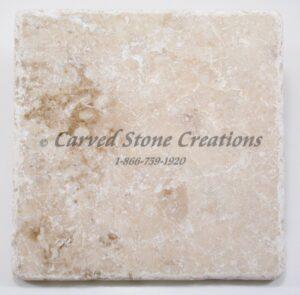6×6 Crema Cappucino Marble Tumbled Tile