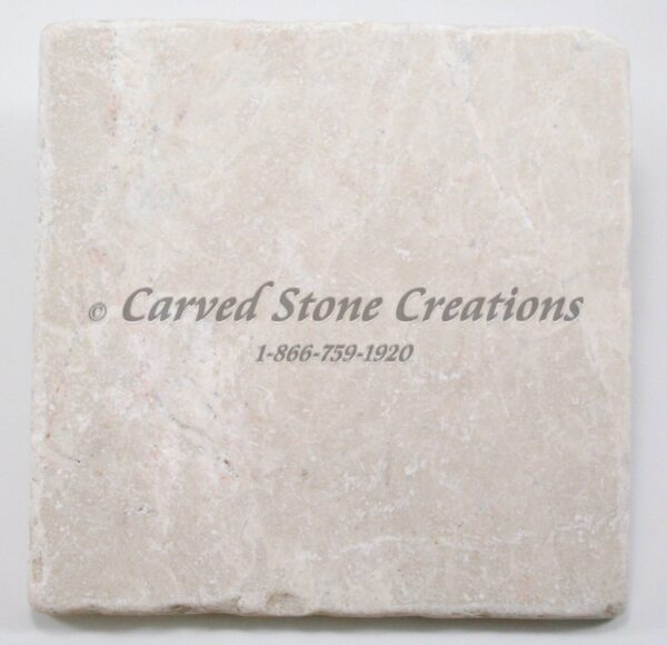 6×6 Botticina Cream Marble Tumbled Tile