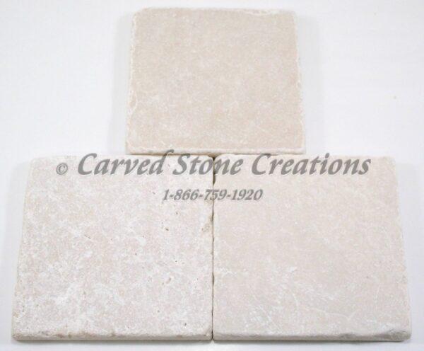 4×4 Botticina Cream Marble Tumbled Tile