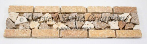 14×4 Tuscany Gold Tumbled Chip Border