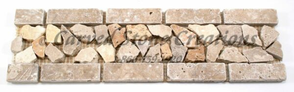 14×4 Tuscany Noce Tumbled Chip Border