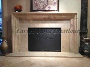 Sahara Gold Marble Fireplace