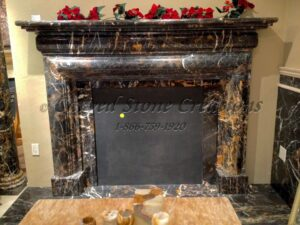 Polished Michelangelo Marble Fire Place