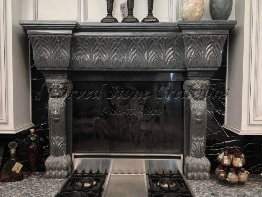 Granite fireplace design