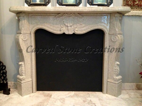 French Country Fire Place Surround Giallo Fantasia