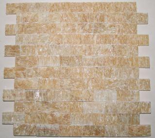 Butterscotch Onyx 1×2 Split-face Brick Mosaic