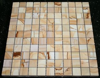 Teakwood Marble 1 Polished Mosaic Tiles