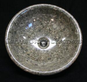 Gem Marble Polished Rimmed Vessel Sink