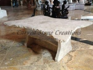 "Stone Coffee Table, L50"" x 38"" x H19"""