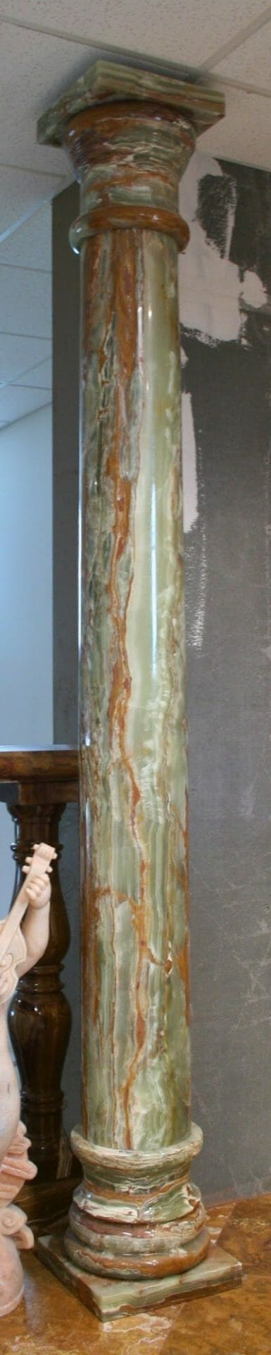 Multi Green Polished Onyx Column