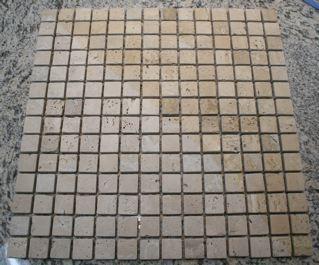 Tuscany Classic 3/4 Tumbled Square Mosaic Tiles