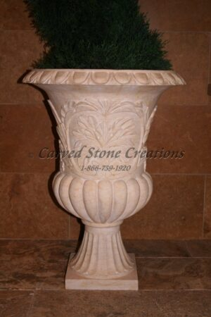 Tuscan Urn Planter D22 X H30 Egyptian Yellow