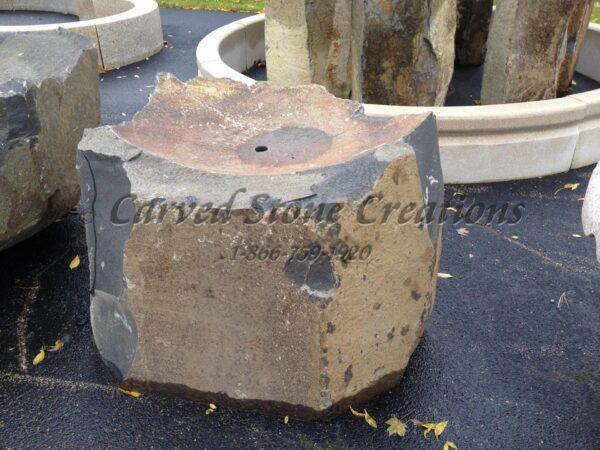 Large Basalt Bowl Fountain, 2-FT