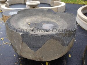 Large Basalt Bowl Fountain, 3-FT