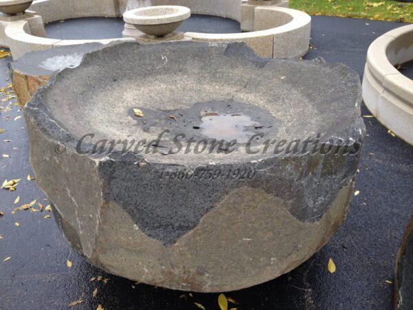 Large Basalt Bowl Fountain, 3-FT