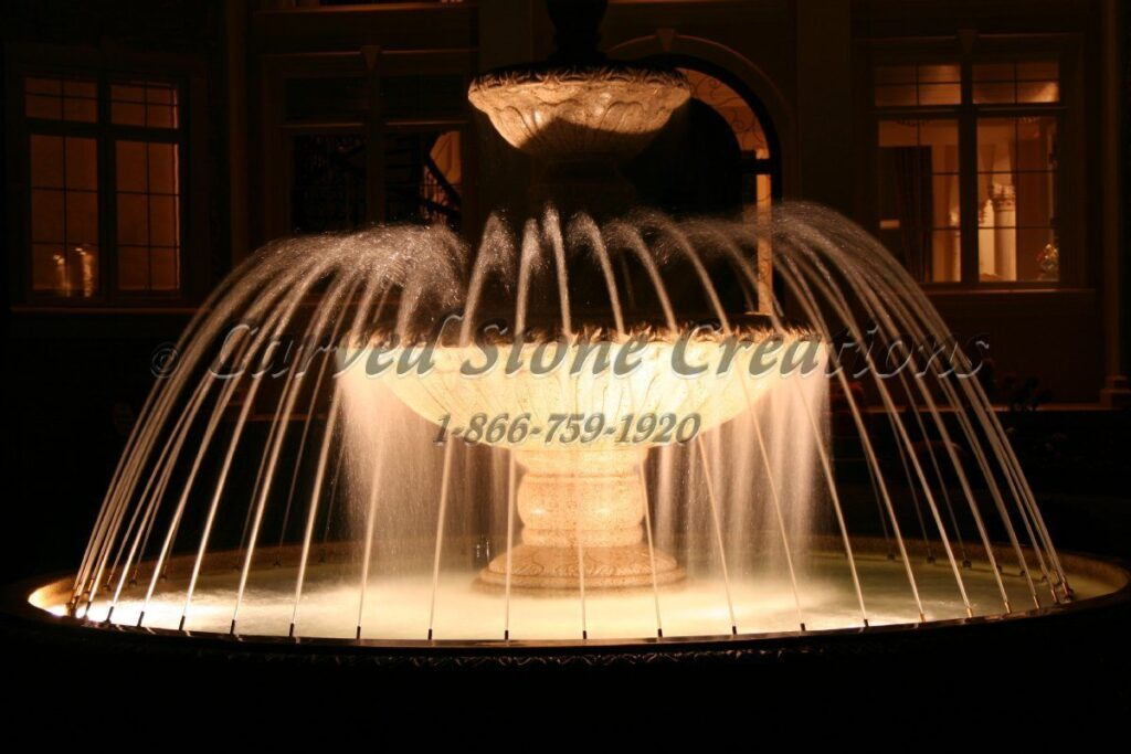 fountain with Underwater Lights