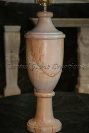 Polished Teakwood Marble Lamp