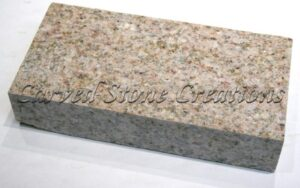 4×8 Flamed Granite Pavers, Giallo Fantasia