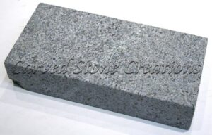 12×12 Flamed Granite Pavers, Charcoal Grey