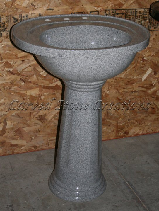 Presidential Fine Temple Gray Pedestal Sink