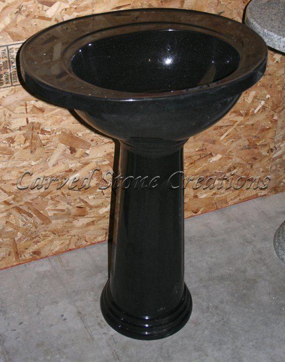Presidential Absolute Black Pedestal Sink