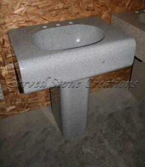 Simplicity Fine Temple Gray Pedestal Sink