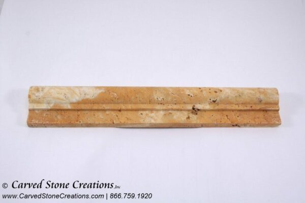 Tuscany Gold Travertine Honed/Unfilled Rail Moulding