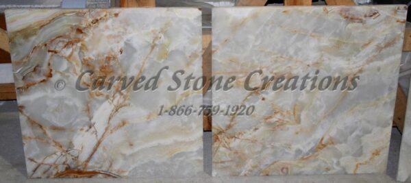 24×24 White Onyx Polished Tile