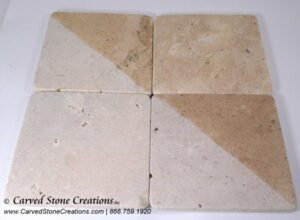 6×6 Light Oriental Travertine Tumbled Tile