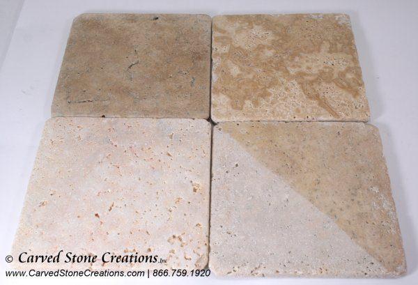 6×6 Tuscany Classic Travertine Tumbled Tile