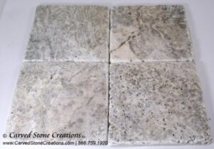 6×6 Silver Travertine Tumbled Tile