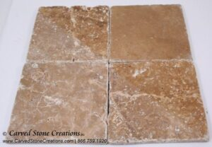 6×6 Tuscany Noce Travertine Tumbled Tile