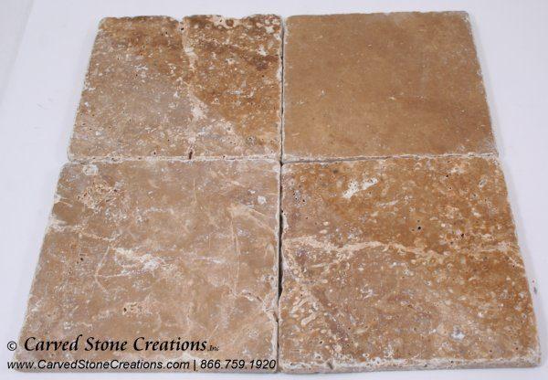 6×6 Tuscany Noce Travertine Tumbled Tile